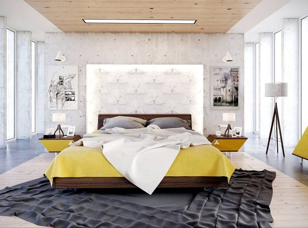 bedroom with exciting personality