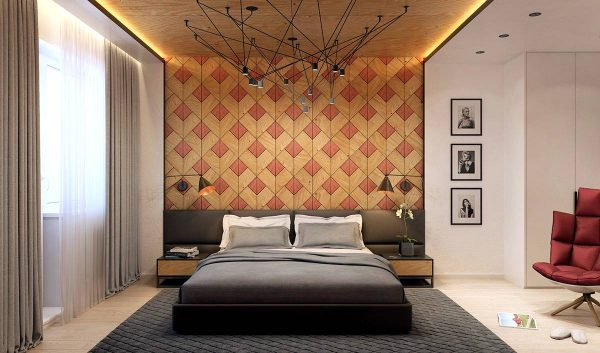 stylish wood wall pattern