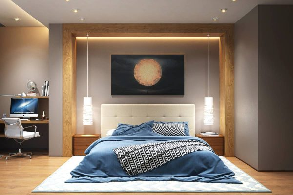 subtle indirect bedroom lighting