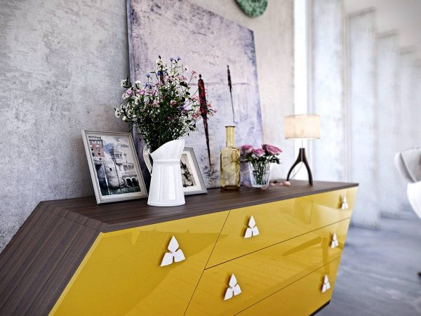 trapezoid dresser