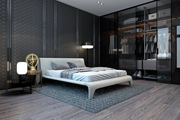 sophisticated walk in closet design
