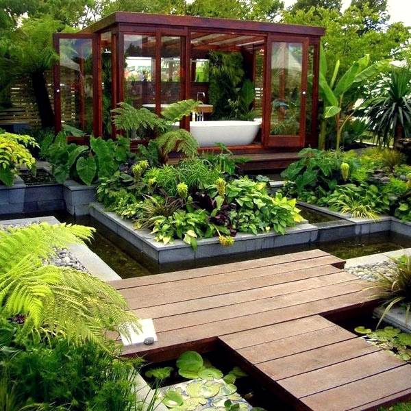 Bathroom garden room