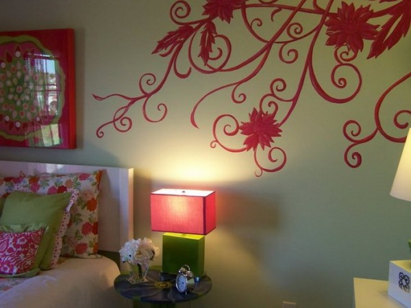 Red-Rose-Wall-Murals-in-Bedroom