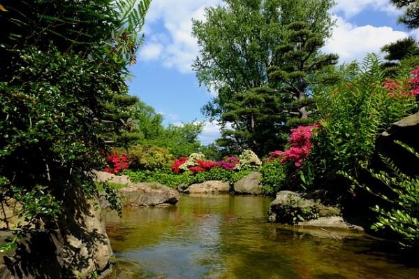 river rock garden designs pictures