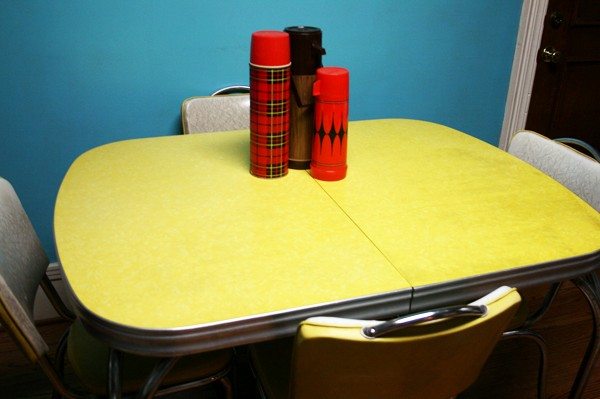 vintage formica kitchen table and chairs