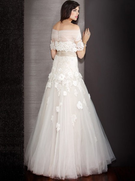 wd-4186_new_arrival_unique_white_ball_gown_flower_decorated_applique_inexpensive_tulle_wedding_dresses_under_250-2_1