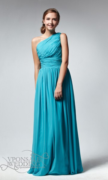 Long-One-Shoulder-Blue-Bridesmaid-Dress-DVW0060