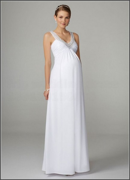 cheap-lace-maternity-wedding-dresses