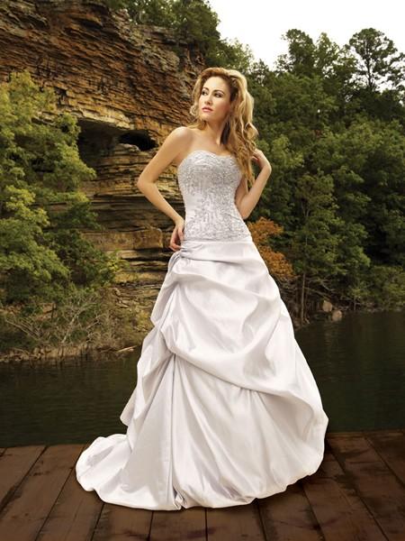 cheap-strapless-wedding-dress-WD068