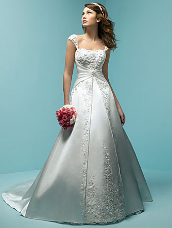 white-long-train-wedding-dress