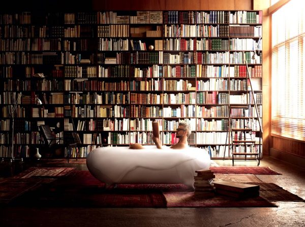 Bath tub in home library