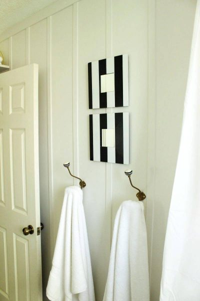 DIY Bathroom Finishing Touches Wall