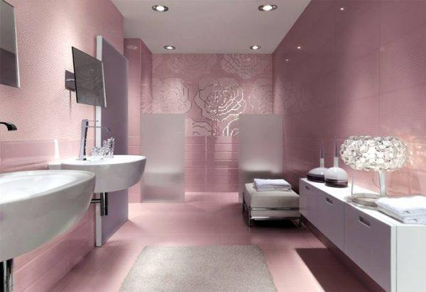 Floral metallic bathroom mosaic tiles