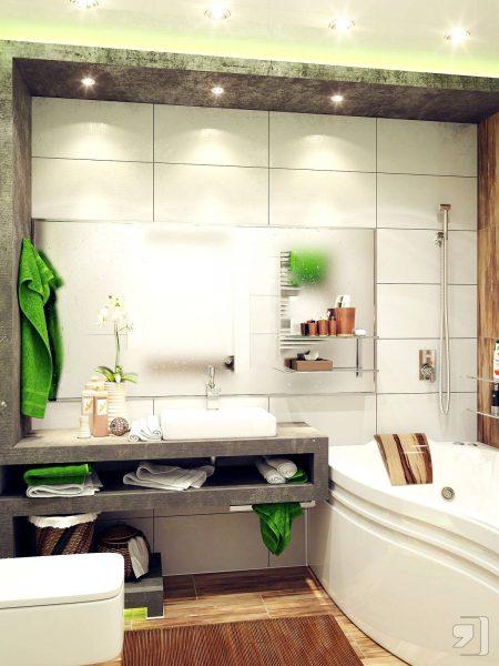 Green white small bathroom ideas