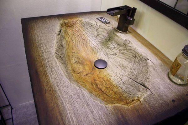 JM Lifestyle wood wash basin