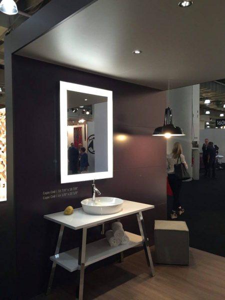 Light mirror for bathroom