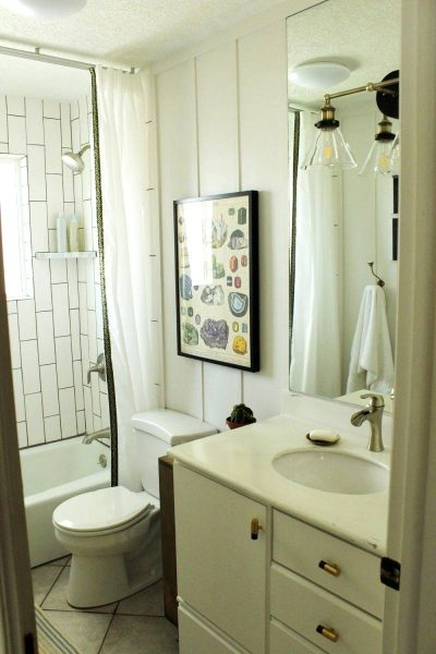 Lighting in bathroom DIY