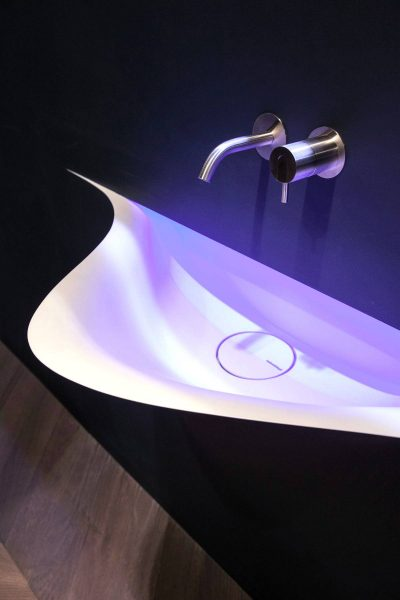 Modern Silenzio Wash Basin by Antonio Lupi