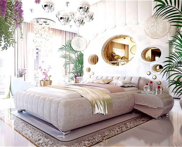 Pink themed bedroom for adults