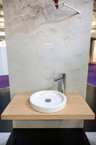 Stirone round flat wash basin