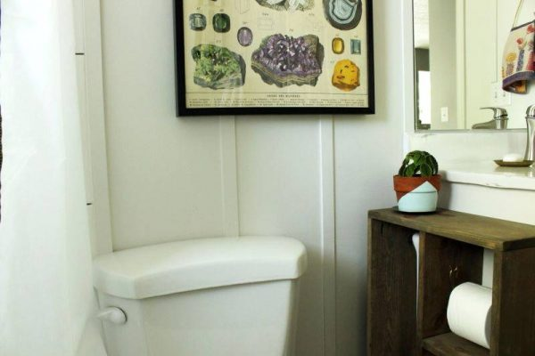 Wall art for bathroom DIY