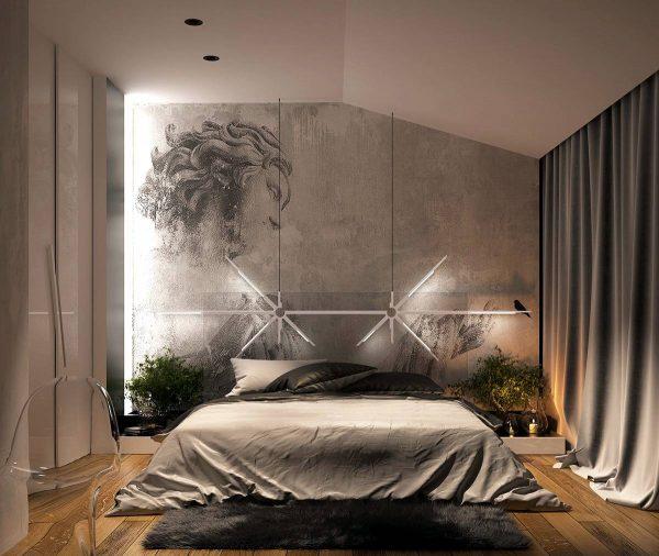 artistic bedroom lighting theme