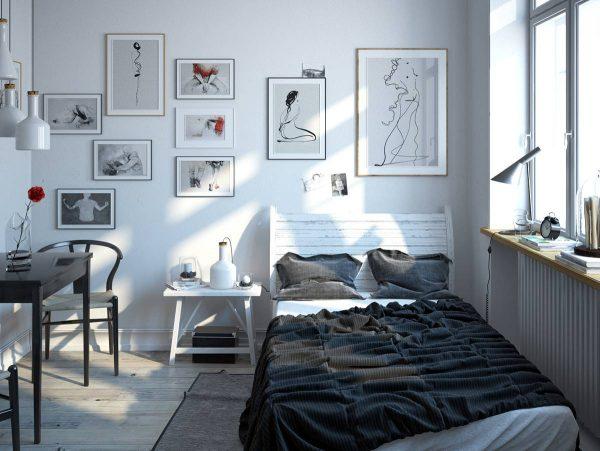 artistic scandinavian bedroom design