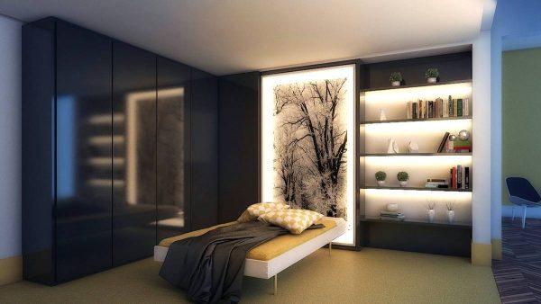 backlit bedroom art inspiration