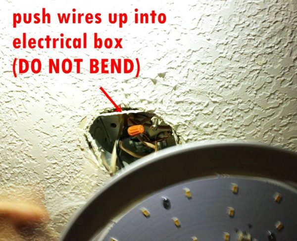 Gently push all wires and wire