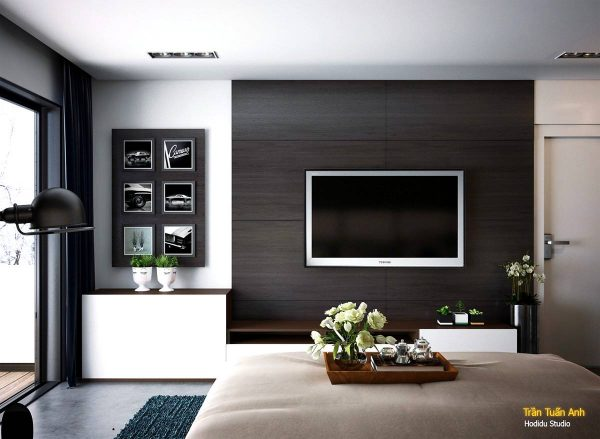 black bedroom wall panels