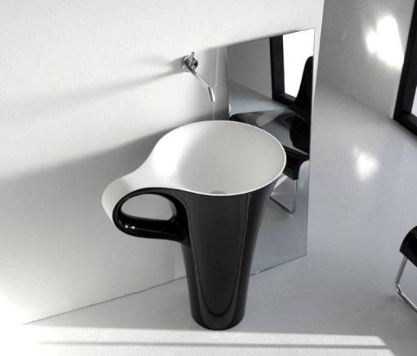 black coffee cup basin
