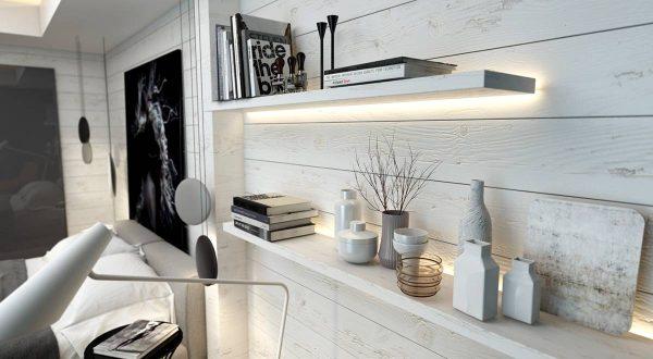 chic bedroom walls