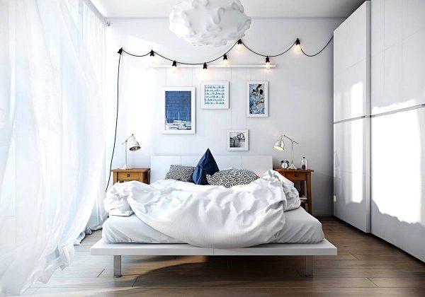 chic scandinavian bedroom theme inspiration