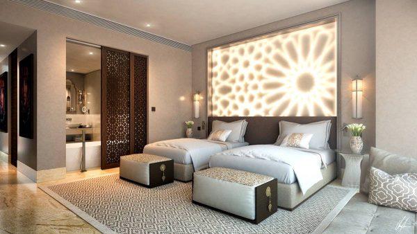 bedroom lighting as art