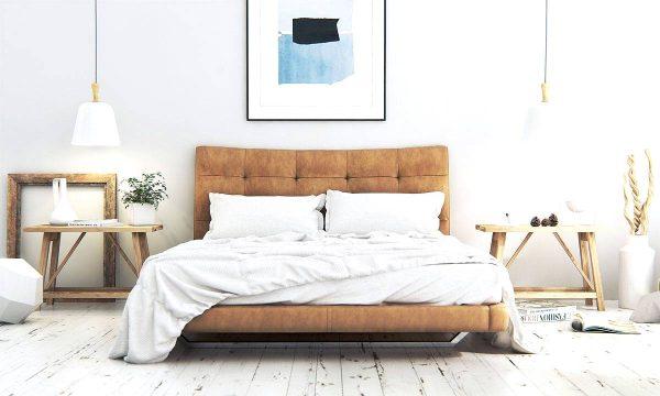 classic modern scandinavian bedroom theme