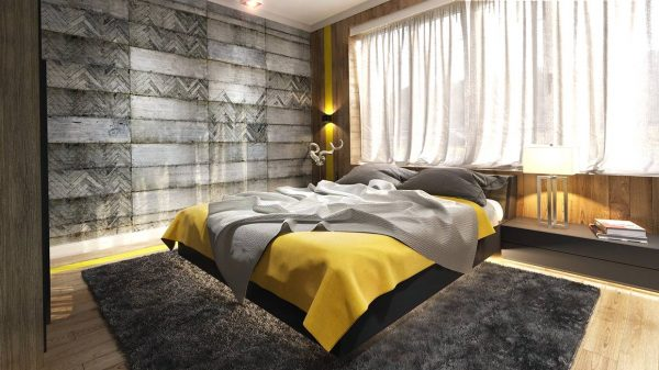 concrete wall pattern bedroom