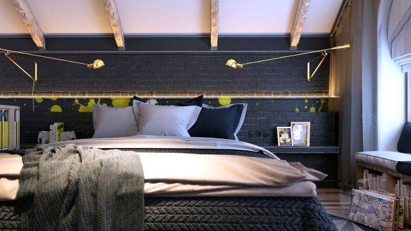 dark artistic bedroom design