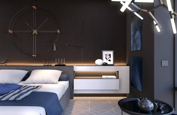 dark bedroom lighting theme