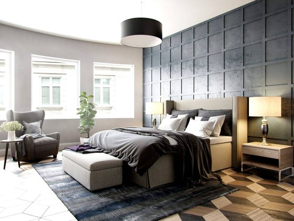dark luxury bedroom design