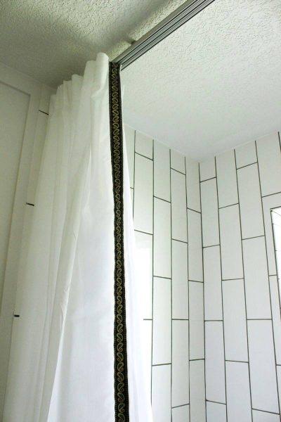 Bathroom Shower Curtain Detail