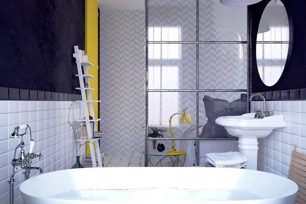 geometric bathroom patterns