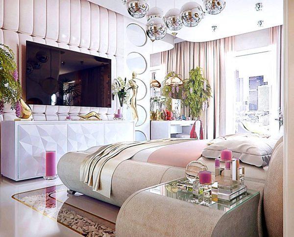 gold copper and silver interior decor