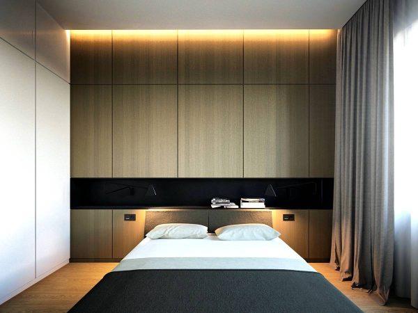minimalist bedroom lighting themes