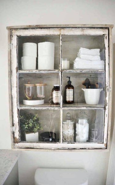 Vintage window shelf
