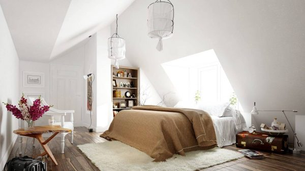 organic scandinavian bedroom design