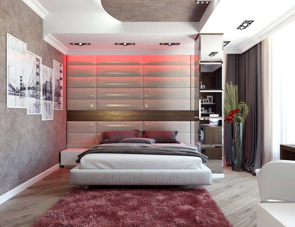 pale red bedroom theme
