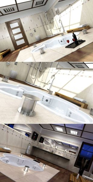 spa jet bath tub design
