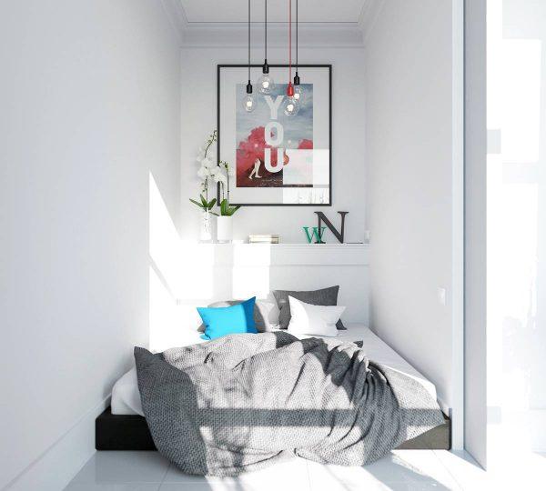 tiny scandinavian bedroom decor ideas
