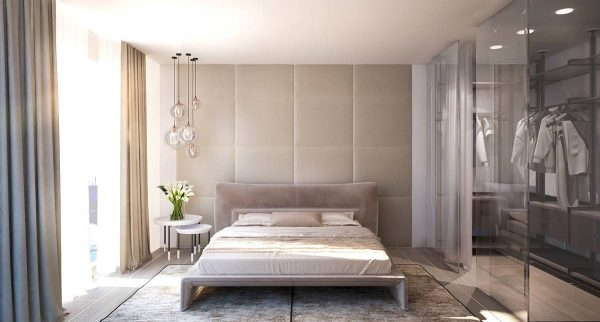 upholstered bedroom wall texture