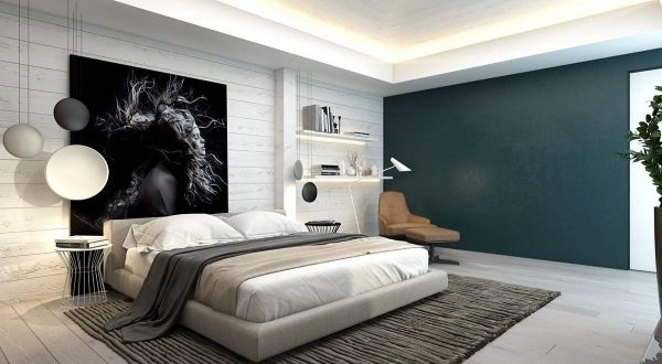 wood panel bedroom wall